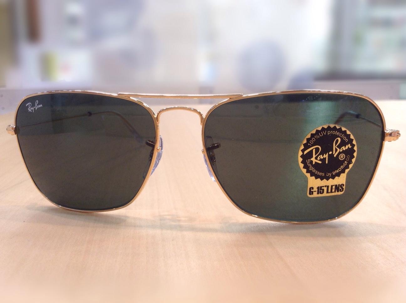 レイバンキャラバン 品番:RB3136 カラー:001(ゴールド) レンズサイズ:58ミリ